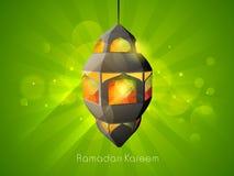 Creative Arabic lamp for holy month Ramadan Kareem celebration. Stock Photos