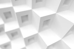 Creative Architecture Background. White Minimalistic Design Stock Image