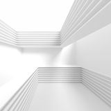 Creative Architecture Background. White Minimalistic Design Stock Photography