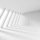 Creative Architecture Background. White Minimalistic Design Royalty Free Stock Photo