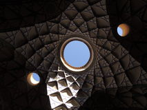 Creative architecture ceiling mosaic design in Kashan, Iran Stock Images