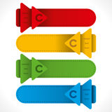 Creative arrow  header info-graphics design Royalty Free Stock Image