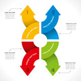 Creative arrow info-graphic Stock Photo