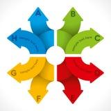 Creative arrow info-graphic Royalty Free Stock Photo