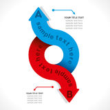 Creative arrow info-graphic. Creative arrow business info-graphics design vector Stock Photo