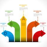 Creative arrow info-graphics. Creative colorful arrow info-graphics design concept vector Royalty Free Stock Image