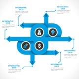 Creative arrow info-graphics design Stock Images