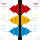 Creative arrow   info-graphics design Stock Photography