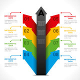 Creative arrow   info-graphics design Stock Photo