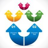 Creative arrow infographic design Royalty Free Stock Photo