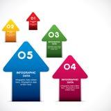 Creative arrow infographic design Royalty Free Stock Photography