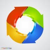 Creative arrows circle. Refresh sign. Royalty Free Stock Photo