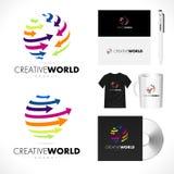 Creative Arrows Sphere Logo Design Vector. Sphere Arrows. Arrows Logo. Stock Images