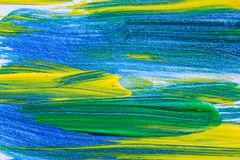 Creative art background hand drawn acrylic painting. Closeup sho. T of brushstrokes colorful texture acrylic paint on canvas. Modern contemporary art. Abstract Royalty Free Stock Image