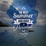Creative art graphic message for your summer Royalty Free Stock Image
