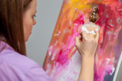 Creative artist for drawing in the studio Royalty Free Stock Image