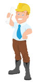 Architect - Cartoon Character - Vector Illustration Stock Photos