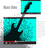 Creative artwork for music video promotion Stock Images