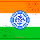 Creative Ashoka Wheel for Indian Republic Day. Stock Images
