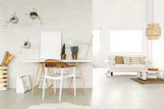 Creative atelier in a loft Royalty Free Stock Image
