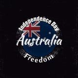 Creative Australia badge for Australia day Royalty Free Stock Image