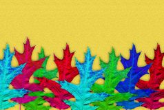 Creative autumn background. Abstract background of colorful leaves. Stock Image
