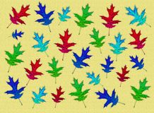 Creative autumn background. Abstract background of colorful leaves. Royalty Free Stock Photo