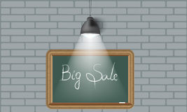Creative background blackboard and spot light. Place for your text. Royalty Free Stock Image