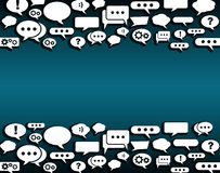 Creative background with chat bubbles with place for you text. Vector EPS 10 Royalty Free Stock Photo