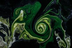 Abstraction painting in fluid technique. stock photography