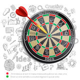 Creative Background With Dartboard Stock Image