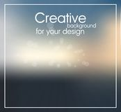 Creative background for design. With dawn and rays of sun in dark colors and glow Stock Illustration