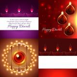 Creative background set of diwali design Royalty Free Stock Photo