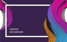 Creative background with strip pattern stock illustration