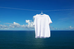 Creative background with white shirt Royalty Free Stock Images