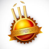 Creative Badge for Cricket Sports concept. Stock Image