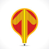 Creative balloon shape design with pencil and design an arrow shape in pencil Stock Photography