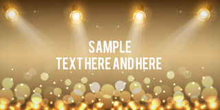 Creative banner design. Christmas party and new year event Stock Photos