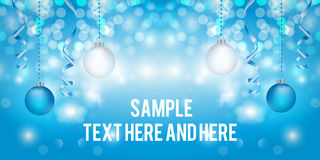 Creative banner design. Christmas party and new year event Royalty Free Stock Image