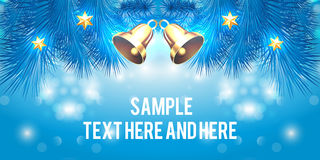 Creative banner design. Christmas party and new year event Royalty Free Stock Images