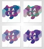 Creative banner design set abstract vector illustration