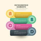 Creative banner infographics design Stock Photography