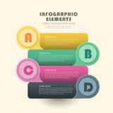 Creative banner infographics design Stock Photography