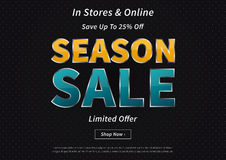 Creative banner Season Sale Save Up To Stock Images