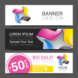 Creative banner set with lines logo blank Stock Photography