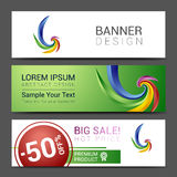 Creative banner set with lines logo blank Royalty Free Stock Photography