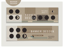 Creative banner template set design Stock Images