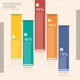 Creative bar chart infographics design Royalty Free Stock Images