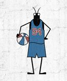 Creative basketball player insect Royalty Free Stock Images