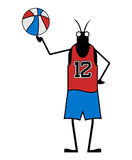 Creative basketball player insect Stock Photography
